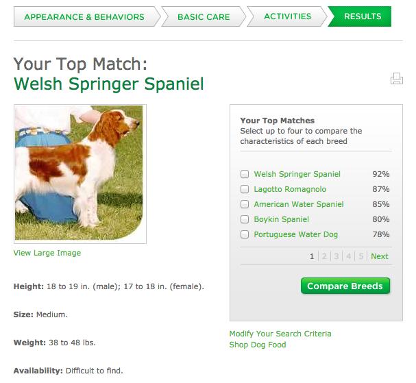 Dog Food Selector Quiz Purina